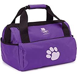 Top Performance Groomer's Duffle Bags - Rugged, Easy-to-Clean Nylon Bags Designed for the Storage of Grooming Tools and Supplies for the Professional Pet Groomer, Purple