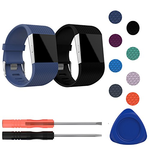 I-SMILE Fitbit Surge Bands, Original Version Adjustable Replacement Wristband for Fitbit Surge/Wireless Activity Bracelet Sport Wristband]()