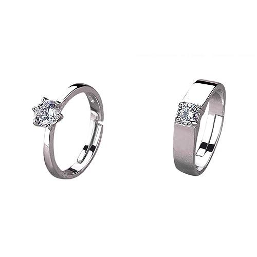 Amazon.com: Lethez Anillos de boda para mujeres y hombres ...