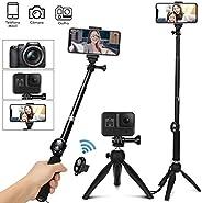 TXG Tripie para Celular, Selfie Trípode Bluetooth, 360°Rotación Extensible Selfie Stick Inalámbrico Palo Selfi
