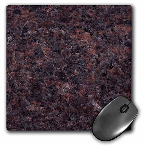 Dakota Mahogany Granite (3dRose LLC 8 x 8 x 0.25 Inches Mouse Pad, Dakota Mahogany Granite Print (mp_97945_1))