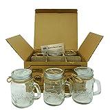 Smiths Mason Jars Mini Mason Jar Shot Glasses set of 6 Shot glasses 120 ml each, great gift tag Wedding Favors, Mason Jar Sand and Pepper shakers, shots you name it!