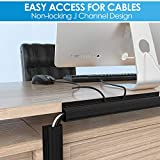 """Updated 94"""" J Channel Cable Raceway - Desk Cord"""