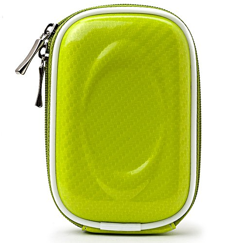 Slim Protective Green Candy Glossy Carrying Case for Canon PowerShot Series Point and Shoot Cameras