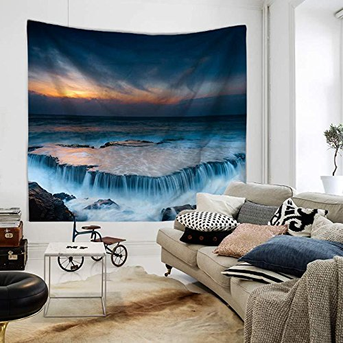XINSU Home Wandbehangstrandtuchdecke des szenischen szenischen szenischen Wasserfallsausgangstapisseries (Farbe   TP1028-1, Größe   200X150cm) B07LD8F6ZL Wolle 583c37