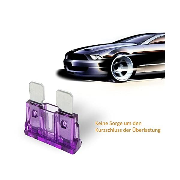 Rovtop 120 Stück Standard Auto Sicherungen KFZ Sicherungen Set maßgebend Autosicherungen 2A 3A 5A 7.5A 10A 15A 20A 25A…