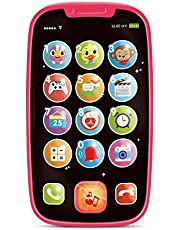 Baby Play Phone Toys w/ Lights & Music. Smartphone Toys for Toddlers, Infants & Kids. Click & Count, Call & Chat Fun PhoneToy for Ages 1 Year +