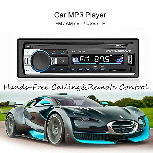 ATian CAR MP3/WMA Player TFT Screen FM Radio AM Coche 4 Loud Speaker Video-Support SD/USB/MMC ID3 Display with Bluetooth Hand Free Call&Built-in EQ+Remote Control+Steering Wheel Key Contr