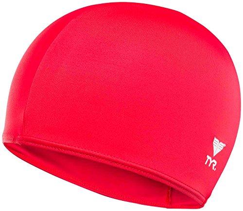 TYR Lycra Swim Cap, Red