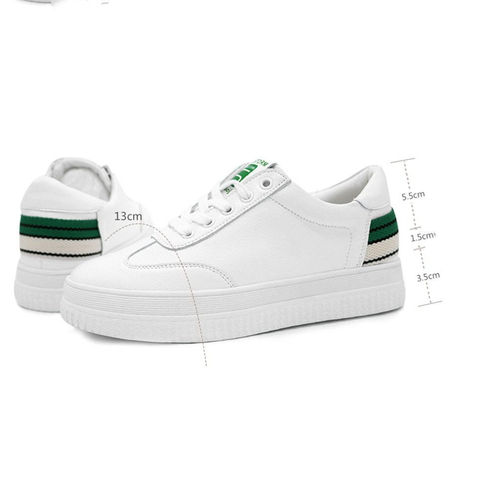 Shoe FUFU Women s Sneakers Comfort Spring Fall Walking Casual Outdoor  Lace-up Platform For 18-40 Years Old (Color   Green 7e66175360