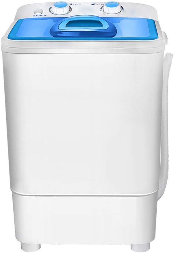 ELEXERT Lavadora Portatil,Mini Lavadora,de 5.0 KG / 7.5 KG de Capacidad Total Combinada y Secadora Bajo Consumo Silencioso Combo Compacta para Dormitorios de Camping Apartamentos,Blue