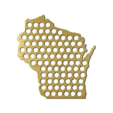 Beer Cap Trap Wisconsin Beer Cap Map Wall Art