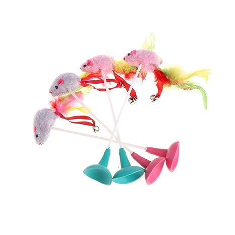 Mascotas Ventosas Longsw Gato Drôle Juguete Para Coloré Las Con TlJ1uK3Fc