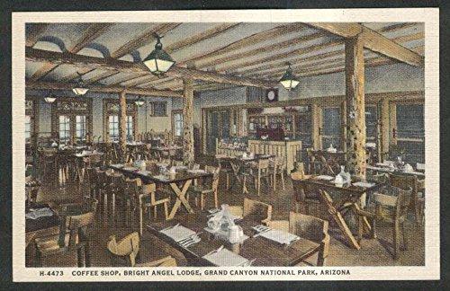 Coffee Shop Bright Angel Lodge Grand Canyon National Park AZ postcard 1930s