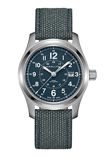 Hamilton Khaki Field Auto H70605943 Blue / Blue Nylon Analog Automatic Men's Watch