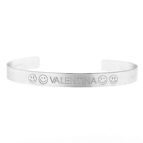 7d3759a93b66 Pulsera Manetta Smile Valentina de plata 925 rodiada antialérgico ...