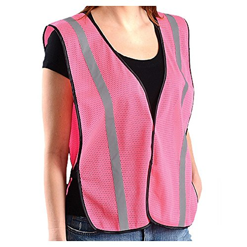 Lightweight Economy Safety Vest - Safety Girl SG-PINKVEST-S-M Women's Non-ANSI Hive's Pink Safety Vest, Mesh, Pink, Small/Medium