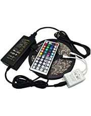 LED Strip light RGB 5050 5m 300 led Waterproof with Remote 44K Control and power adapter