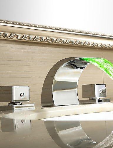Ai Li Wei LED /à couleur changeante beaucoup de Salle de Bain Cascade Robinet pour /évier Finition chrom/ée