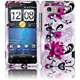 Purple Lily Hard Case Cover for HTC Vivid Holiday