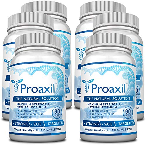 Proaxil – Extra Strength Vegan Saw Palmetto Supplement for Prostate Health – Healthy Urination Frequency Flow Formula – 6 Bottles – 540 Capsules