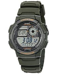 Casio Reloj Automático de cuarzo, resina, 10 años de batería, color: verde (Modelo: ae1000W-3av), para hombre