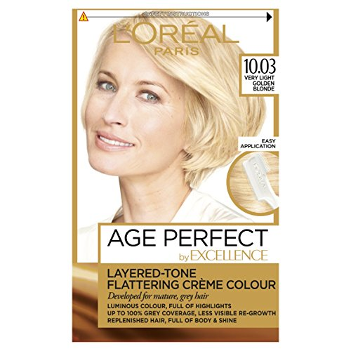 L'Oreal Excellence Age Perfect 10.03 Very Light Vanilla Blonde Hair Dye
