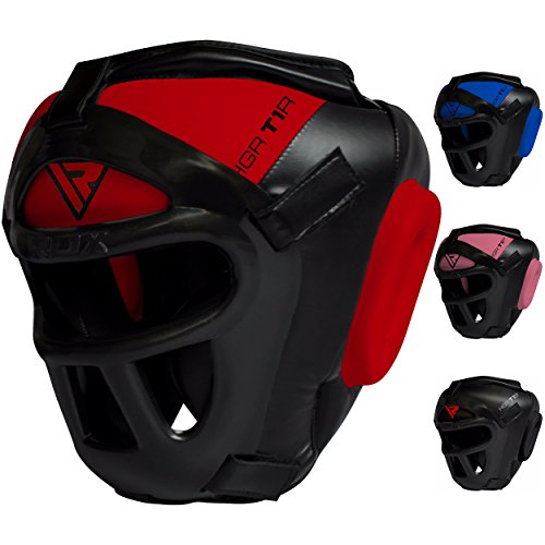 RDX Maya Hide Leather Boxing MMA Protector Headgear UFC Fighting Head Guard Sparring Helmet