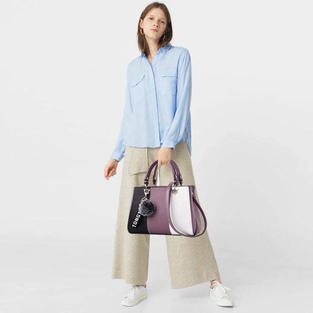 Regnkvinnor handväskor messengerväska damhandväska kvinnlig väska handväskor för kvinnor, azurblå Purple C
