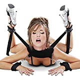DIMLAN Bondage Restraints Kit with Adjustable Straps Padded Wrist Ankle Cuffs Strong Velcro for Reliable Legs-Spread Action,BDSM Restraints Toy 146-1