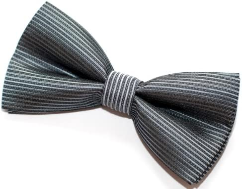Retreez Stripe Textured Pre-tied Bow Tie Width: 4.5 Various Colors