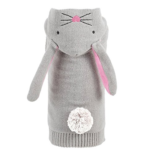 Bunny Hop Hoodie, Grey, XL (Gray Dog Knit Sweater)