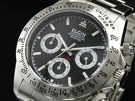 b399a174ad Amazon | エルジン ELGIN 腕時計 クロノグラフ メンズ FK1059S-B | 国内メーカー | 腕時計 通販