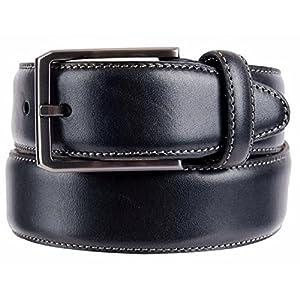 Kirkland Signature Mens Italian Leather Full Grain Belt (34, Black)