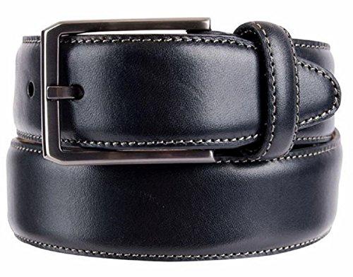 Kirkland Signature Mens Italian Leather Full Grain Belt (32, Black)