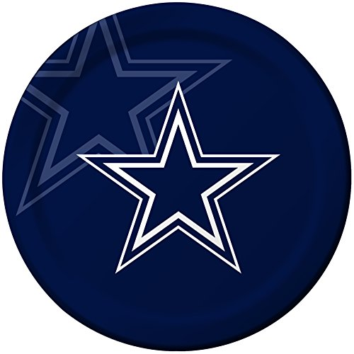 Creative Converting 8 Count Dallas Cowboys Paper Dinner Plates (Dallas Cowboy Football Costume)