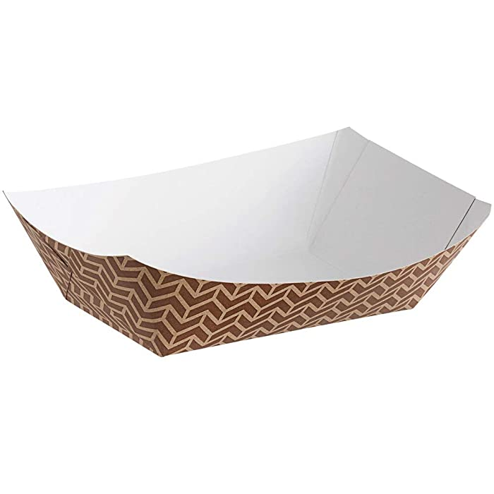 Disposable Paper Food Trays 3Lb-Heavy Duty (100)