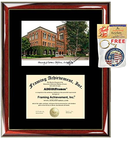 University of Southern California Diploma Frame Lithograph USC Graduation Degree Frames Graduate Gift Framing University Diploma Frame