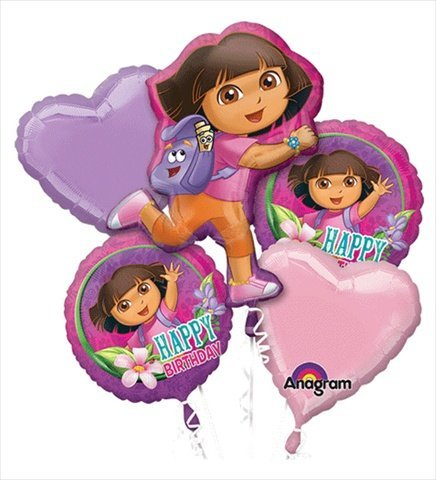 - Dora the Explorer Birthday Bouquet of Balloons