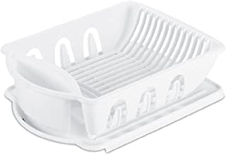 product image for Sterilite 06218006 Sink Dish Rack Drainer, White