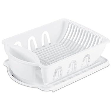 Sterilite 06218006 Sink Dish Rack Drainer, White