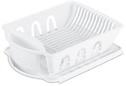 Sterilite 06218006 Sink Dish Rack Drainer White  sc 1 st  Amazon.com & Amazon.com - Sterilite 06218006 Sink Dish Rack Drainer White - Dish ...