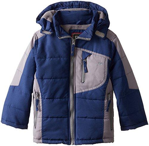 YMI Navy Detachable Jacket Bubble with Hood Color Block Boys' fqwfr4