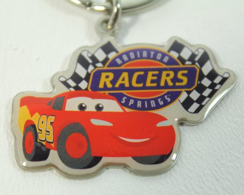 Disney Theme Parks Radiator Springs Keychain (Comes Sealed) California Adventures Exclusive & Limited Availability + BONUS - Colored Belt Clip Keychain