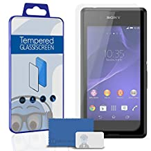 Sony Xperia E3 D2203 D2206 D2243 D2202 Screen Protector TUFF STEALTH Tempered Glass Protective LCD Anti-Scratch Durable