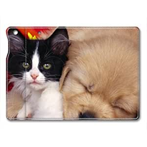 Lovely Dog Animal Custom Leather Cover for iPad Mini By Cases & Mousepads