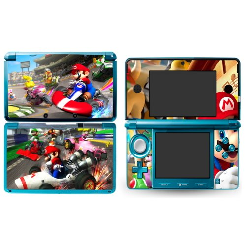MARIOKART Nintendo 3DS Cover Skin Decal Sticker Vinyl Matte Finish + Free Screen Protectors (For Old Version Prior 2015)