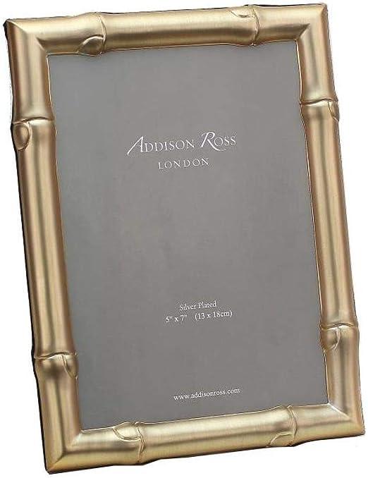 Amazon Com Addison Ross 4x6 Wide Bamboo Matte Gold Photo Frame