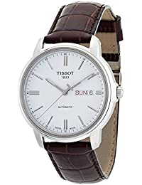 Mens T0654301603100 Automatic III Swiss Automatic Watch with Brown Band