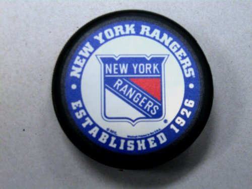 New York Rangers Retro Domed Hockey Pucks by WinCraft